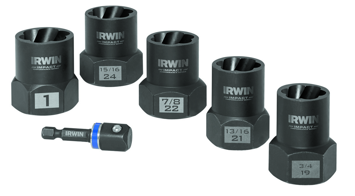 Irwin 1859146 Bolt Grip Impact Deep Well Bolt Extractor With 1 2 Inch Square Drive 6 Piece Set 673765178750 1