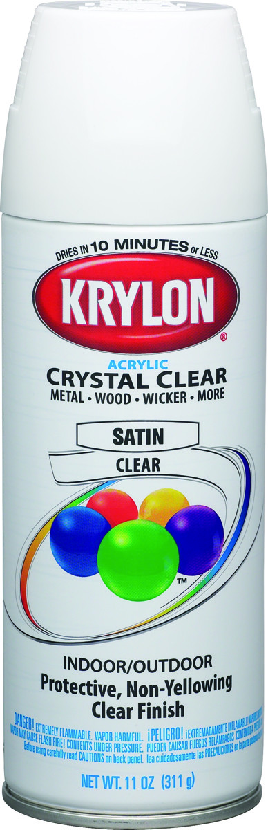 Krylon 51313 Crystal Clear Clear Satin Spray Paint