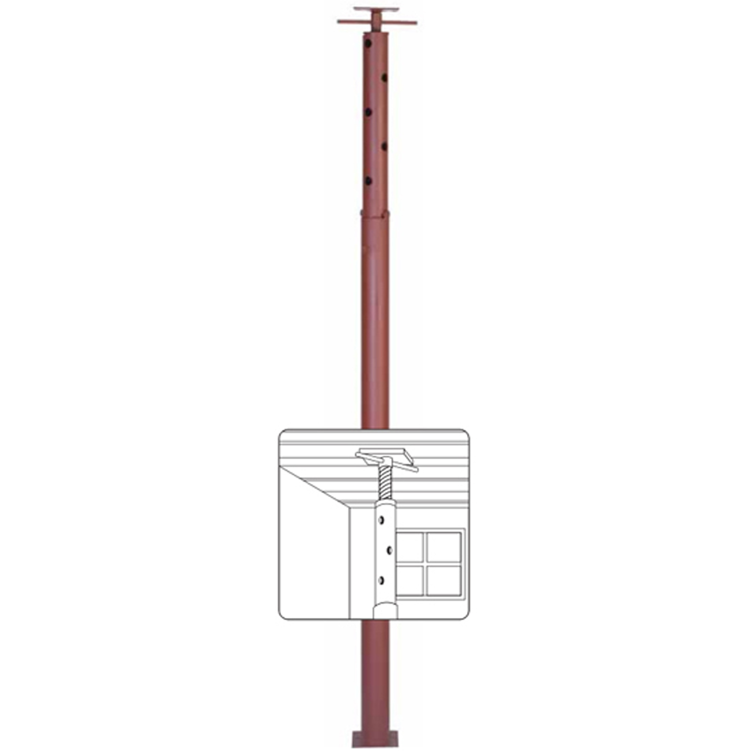 Marshall Stamping Jp16 Extend O Post  Inch  Inch Adjustable Jackpost 725697160003 1