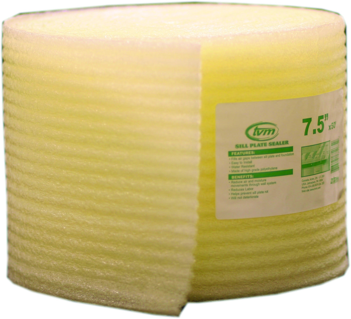 Innovative Energy W508 Sill Seal Foam 7 5 Inch Wide By 50 Foot Length By 1 4 Inch Thick 750958002686 1