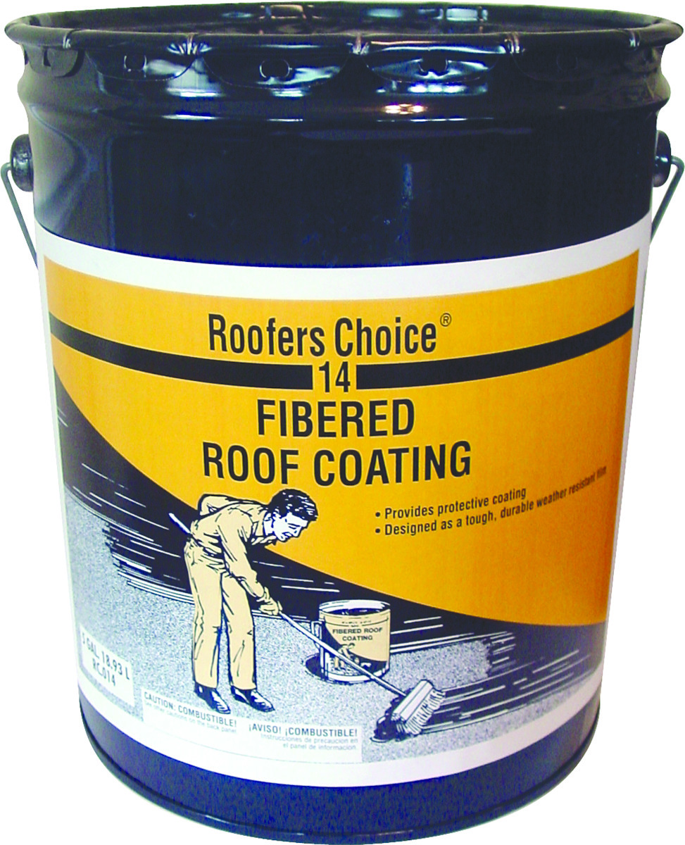 Henry Rc014070 Roofers Choice Coating Roof Fibered 4 75 Gal 755667014708 1