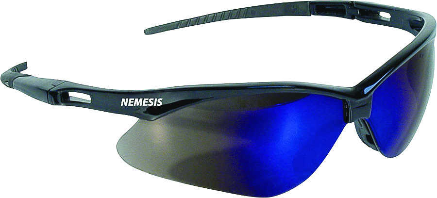 1d47109a7e6 Jackson Safety 14481 Nemesis Safety Glasses With Blue Mir Lens (Case of 12)