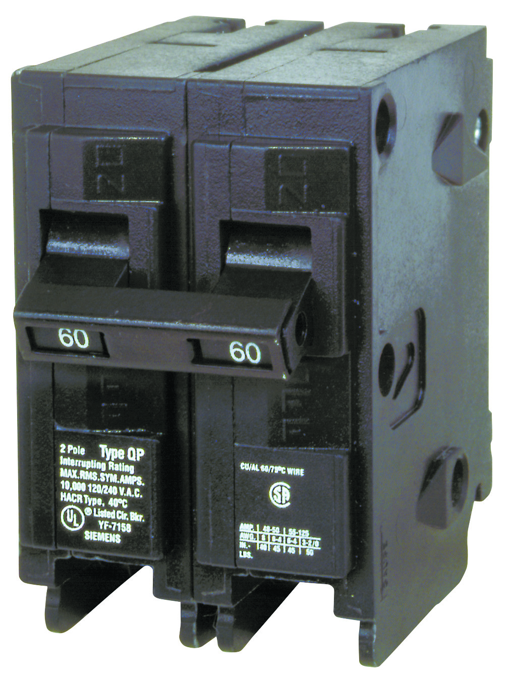 Siemens Qp 50 Amp 2 Pole Double Circuit Breaker Nemetas 2pole Gfci Breakerhom250gficp The Home Depot Q260 60 Two Hover To Zoom