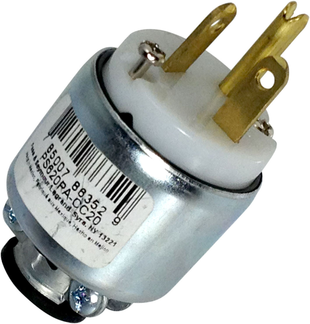 Pass Seymour Ps620pacc20 20 Amp 250 Volt White Armored Plug Shop Cooper Wiring Devices 20amp 250volt Black 3wire Grounding
