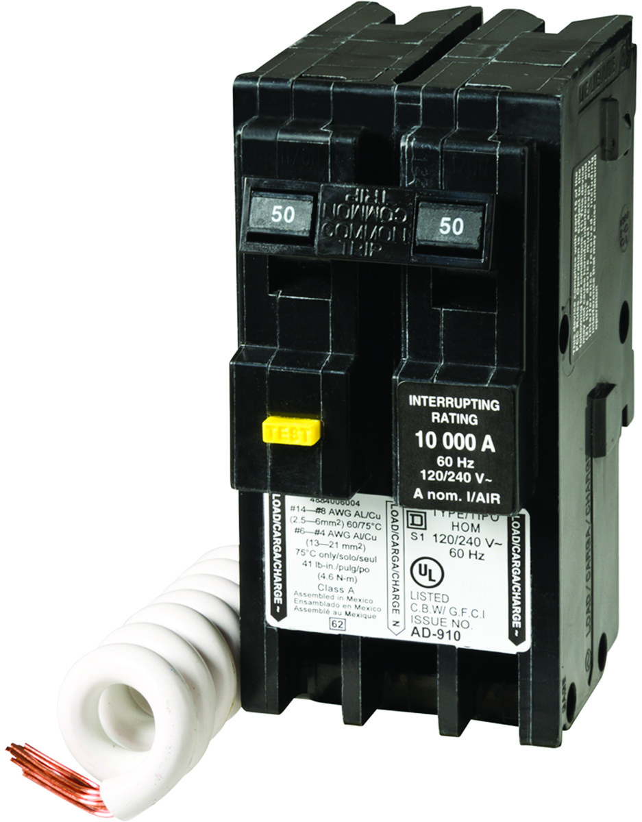Square D Hom250gficp Homeline Circuit Breakr Gfci Hom 2p 50a Tap To Expand