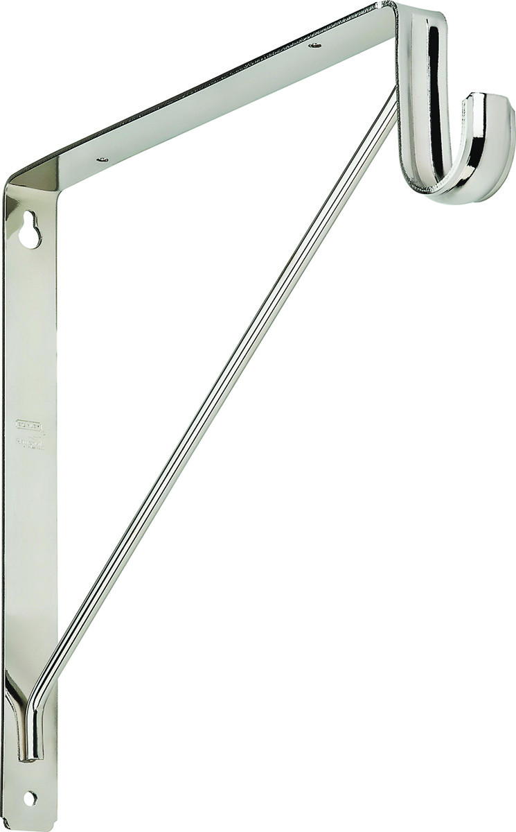 Picture of: National Hardware S822 091 Welded Closet Shelf And Rod Bracket Chrome 886780012675 1